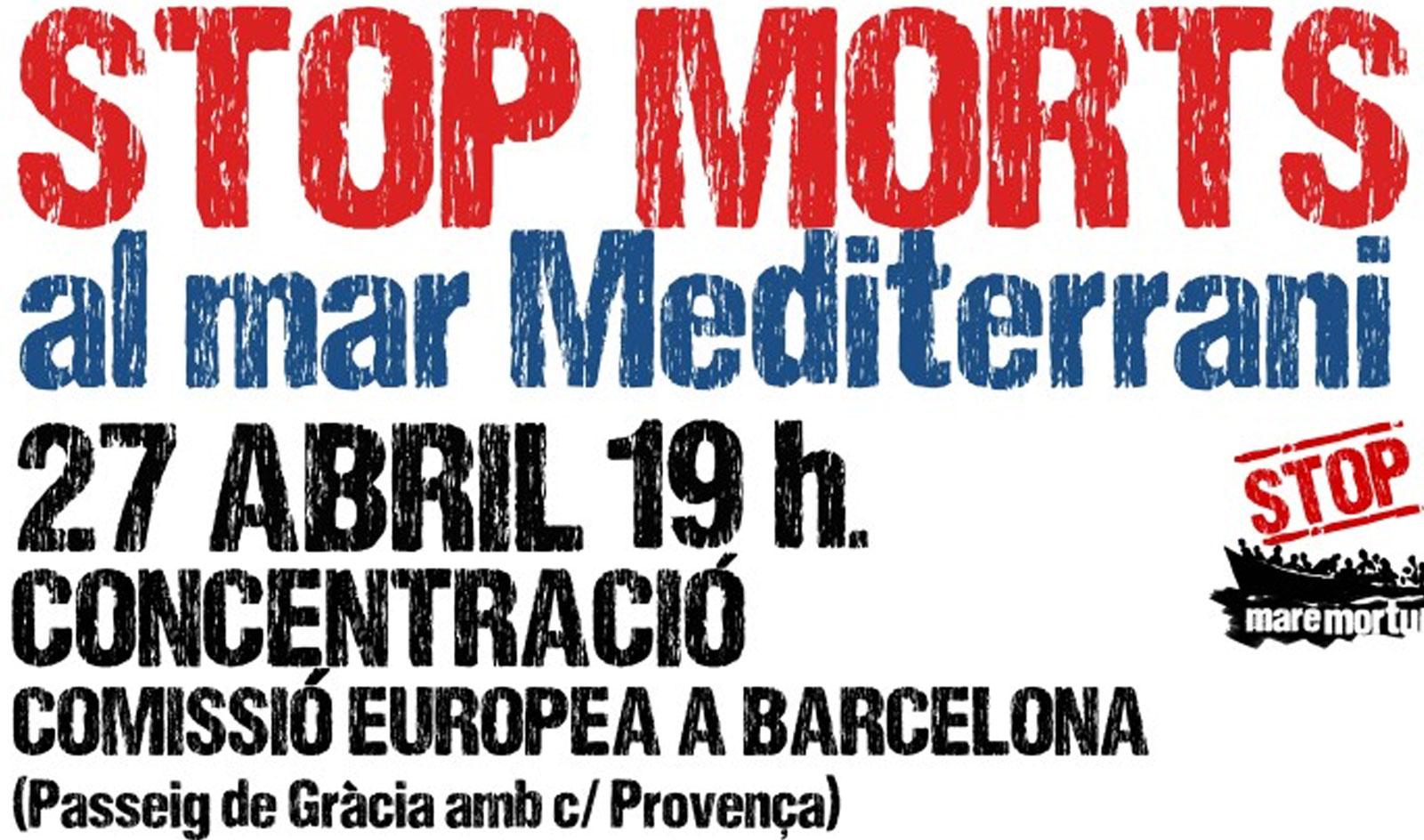 Conovatòria de concentració per dilluns 27 d'abril davant la Comissió Europea a Barcelona