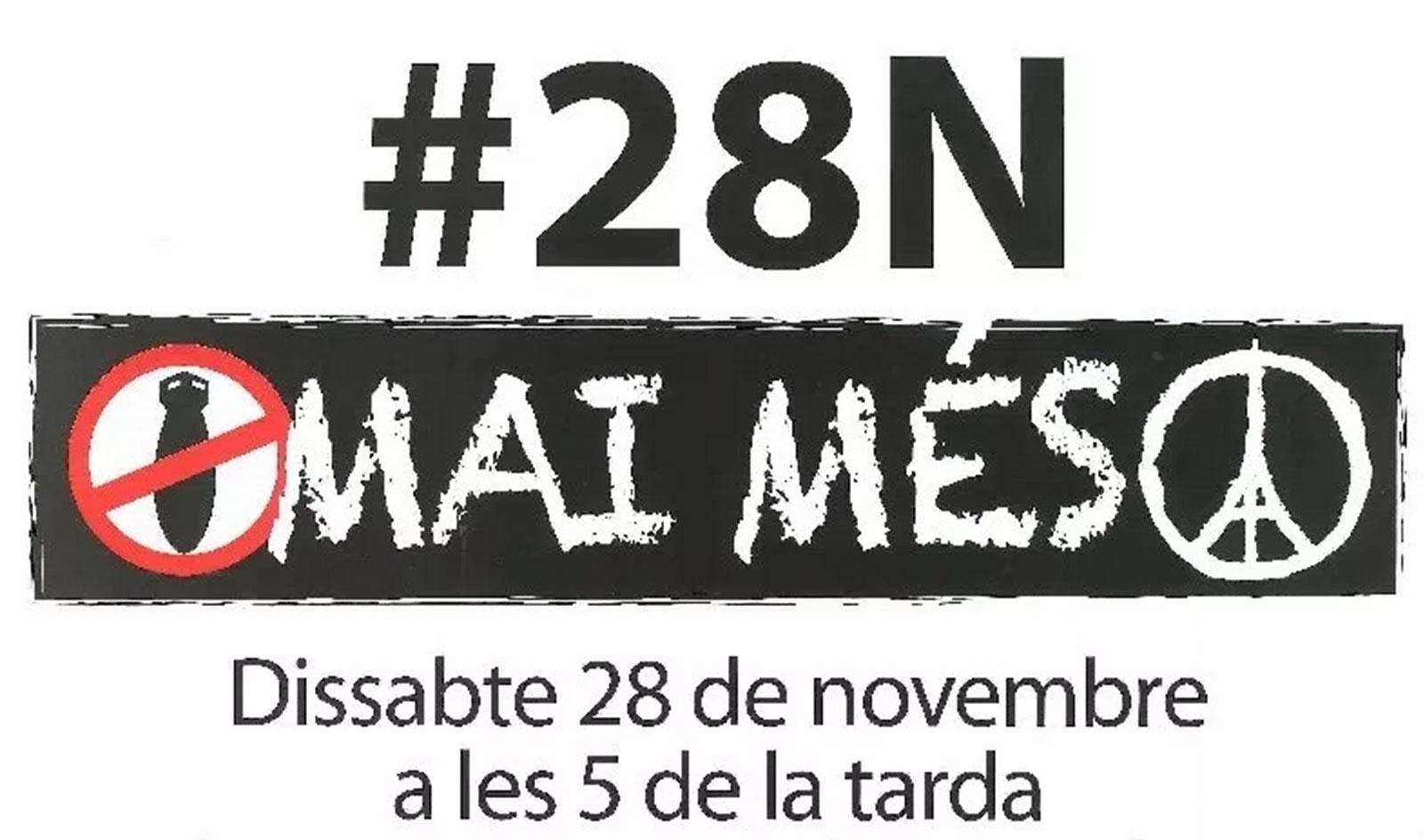 28N: Tothom al carrer en rebuig a la violència i a favor dels drets humans