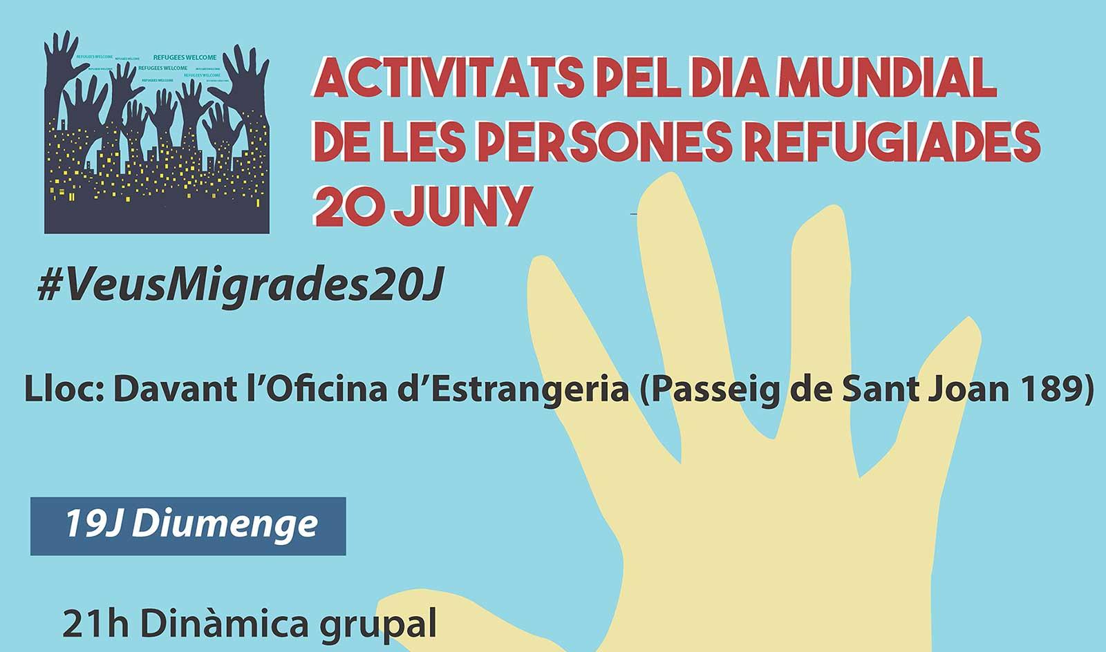"""20J: """"Veus migrades"""". Jornada de Stop Mare Mortum pel Dia Mundial de les Persones Refugiades"""