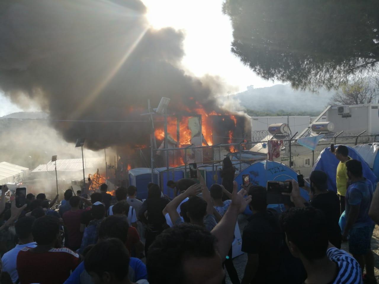 Mória (Lesbos), després de l'incendi