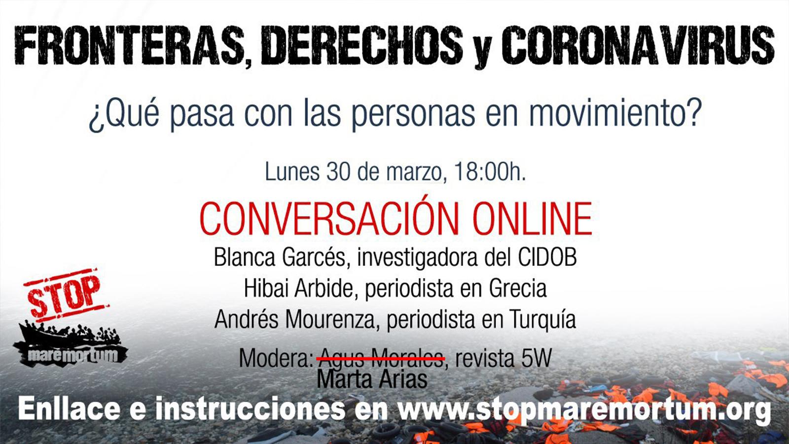 """Vídeo: Charla """"Fronteras, derechos y coronavirus"""""""